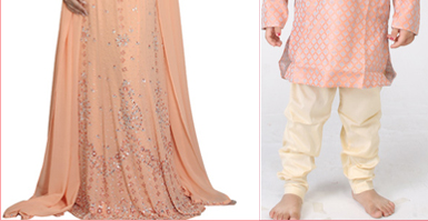 Sherwani in Peach