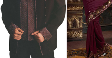Sherwani in Wine