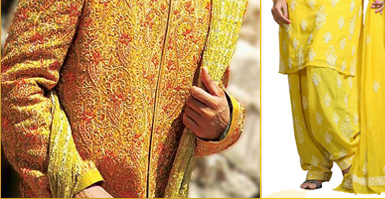 Sherwani in Yellow