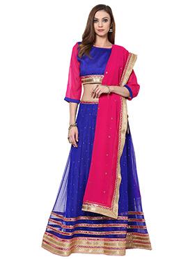 Blue  Deja Lehenga Choli Home India
