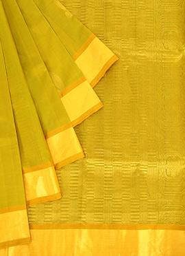 Light Chartreuse Green Pothys Saree