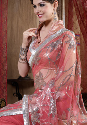 Chic Net Saree