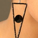 Black Stones Earring