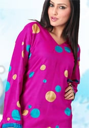 Retro Magenta Kurti