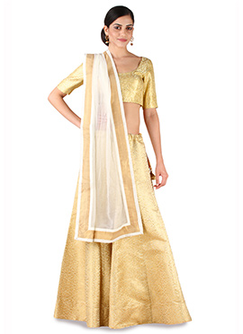 9rasa Gold Color Lehenga Choli