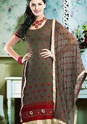 Beguiling Georgette Churidar Suit
