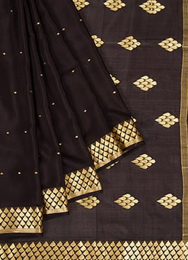 Brown Mysore Silk Saree