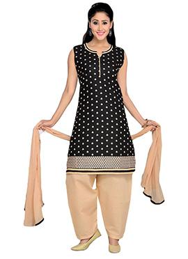Cotton Black Patiala Suit