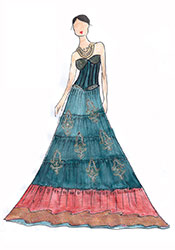 DIY Blue Neha Dhupia Georgette Lehenga Choli