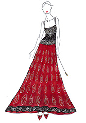 DIY Dia Mirza Red Georgette Lehenga Choli