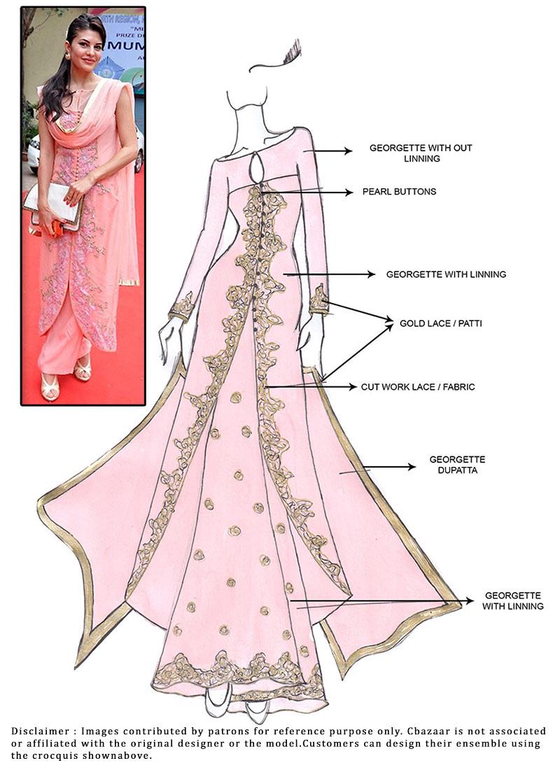 Buy Diy Jacqueline Fernandez Sharara Suit Salwar Kameez
