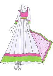 DIY Madhubala Anarkali Suit