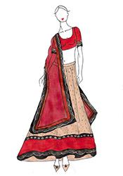 DIY Nikesha Patel Beige Lehenga Choli