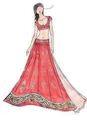 DIY Orange Priyanka Chopra Georgette Lehenga Choli