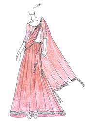 DIY Sonakshi R Rajkumar Pink Lehenga Choli