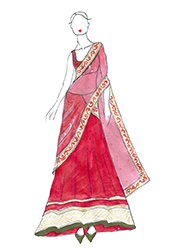 DIY Sophie Choudhry Red Net Lehenga Choli