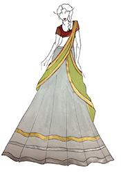 DIY White Malaika Arora Khan Lehenga Choli