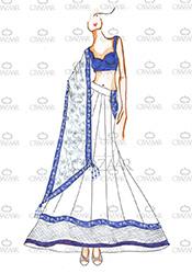 DIY White Priyanka Chopra Lehenga Choli