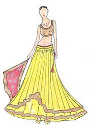 DIY Yellow Shamita Shetty Net Lehenga Choli