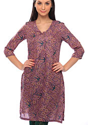 W Enticing Printed Cotton Kurti
