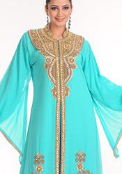Fab Turquoise Georgette Fustan