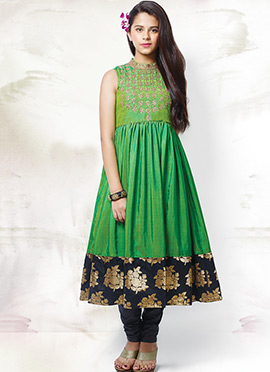 Green Anarkali Suit