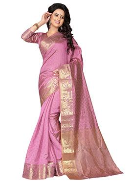 Lavender Benarasi Silk Saree