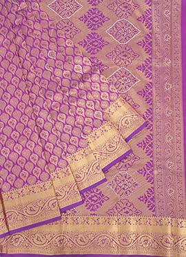 Pure Kancheepuram Silk Purple Saree