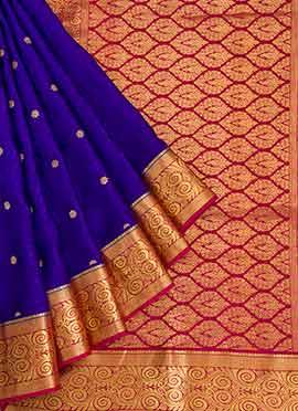 Purple Mysore Silk Saree