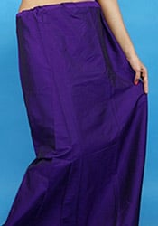 Purple Poly Cotton Inskirt
