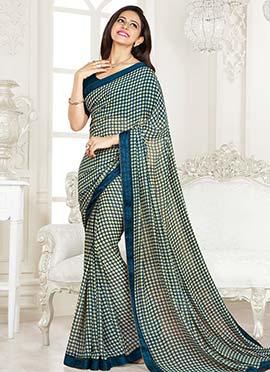 Rakul preet Printed Blue Saree
