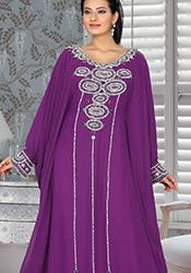 Purple Georgette Farasha Kaftan
