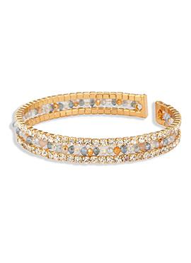 Yazuri Golden Color Embellished Bracelet