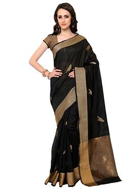 Admyrin Black Embroidered Saree