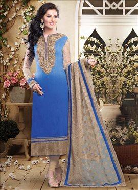 Adorable Blue Churidar Suit