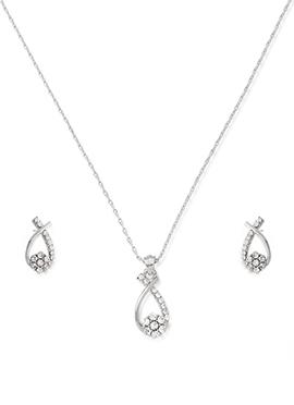 American Diamonds Silver Pendant Set