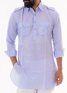 Anshul Rajwansh Light Blue Kurta