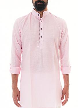 Anshul Rajwansh Pink Blended Cotton Kurta