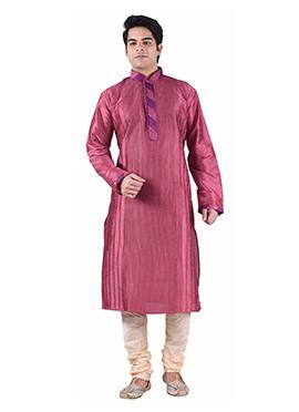 Art Dupion Silk Persian Pink Kurta Pyjama