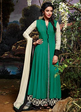 Asin Green Anarkali Suit