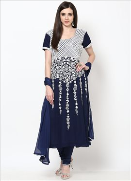 Attractive Georgette Plus Size Straight Suit