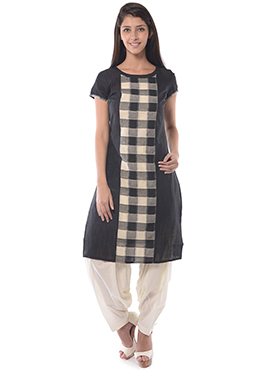 Aurelia Black Cotton Kurti