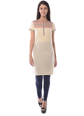 Aurelia Cream Cotton Kurti