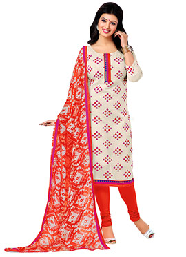 Ayesha Takia Chanderi Off White Straight Suit
