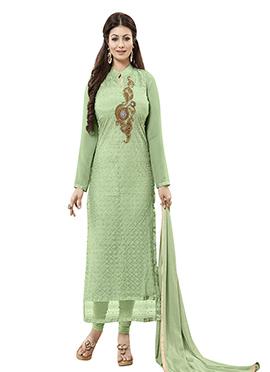 Ayesha Takia Green Shade Straight Suit