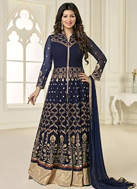 Ayesha Takia Navy Blue Floor Length Anarkali