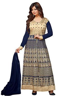 Ayesha Takia Navy Blue Georgette Anarkali Suit