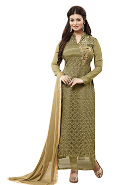 Ayesha Takia Olive Green Straight Suit