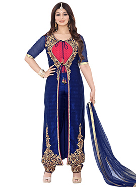 Ayesha Takia Royal Blue Straight Suit