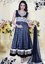 Beautiful Blue Net Anarkali Suit